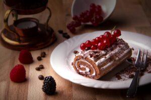 クランベリー ロールケーキ